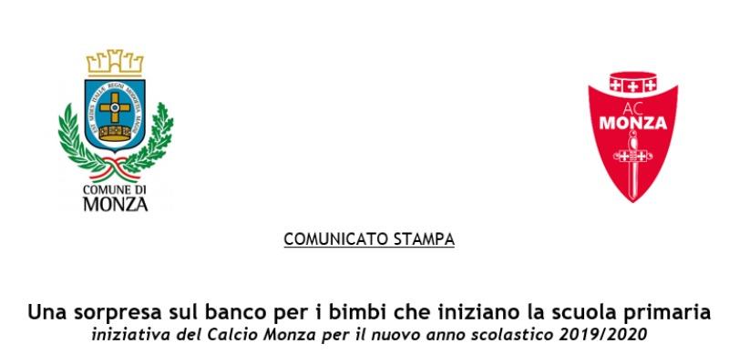 Una Sorpresa Sul Banco Per I Bimbi Che Iniziano La Scuola Primaria Associazione Calcio Monza S P A