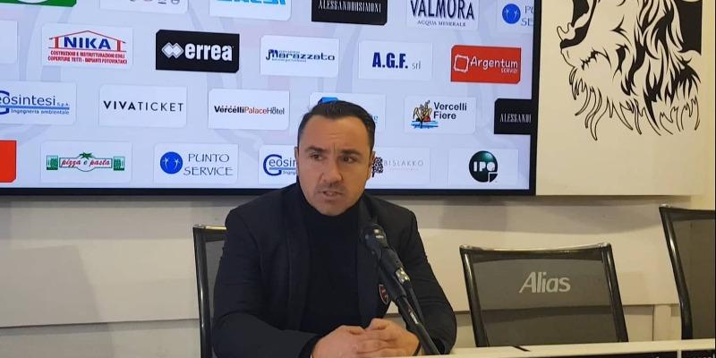 Mister Brocchi dopo Pro Vercelli - Monza