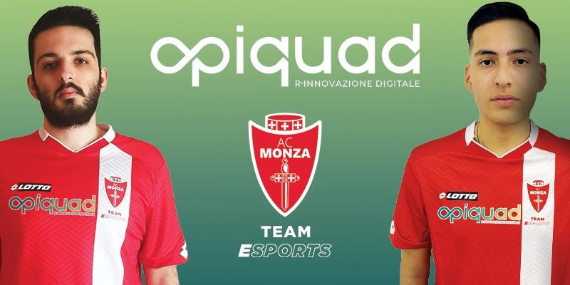 Opiquad è eSports Main Partner dell'AC Monza