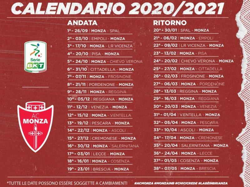 Classifica e Calendario Serie BKT   Associazione Calcio Monza S.p.A.